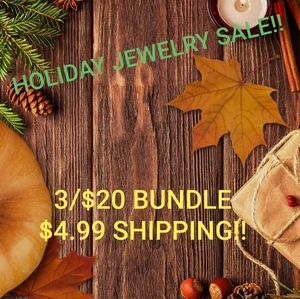 3/$20 Holiday Jewelry Sale!!